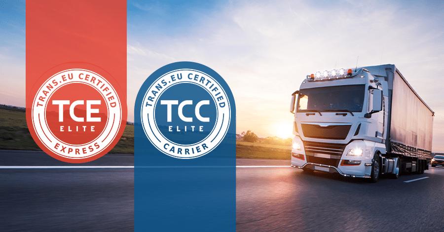 Certyfikat jakości dla najlepszych przewoźników na platformie Trans.eu. Sprawdź, jak bezkosztowo go otrzymać.