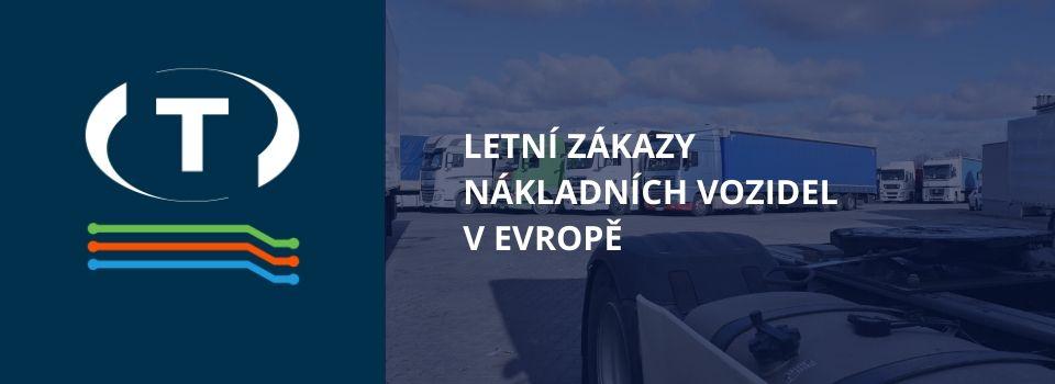 Letní zákazy nákladních vozidel v Evropě. Podívejte se, jak a kdy se uplatňují