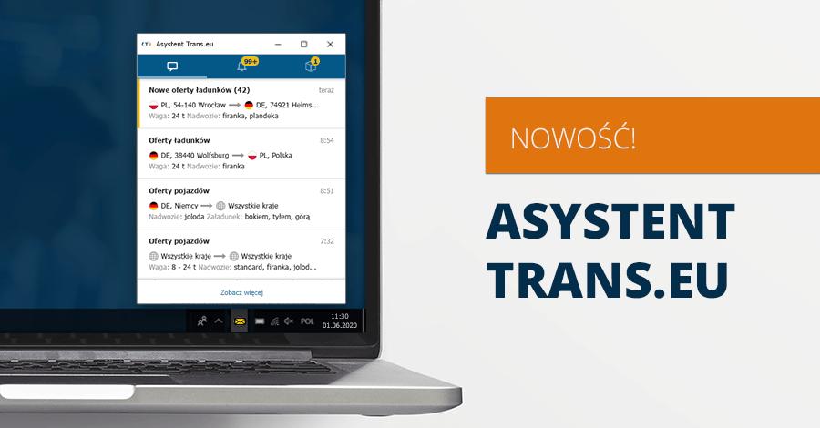 Usprawnij pracę na Platformie, dzięki Asystentowi Trans.eu