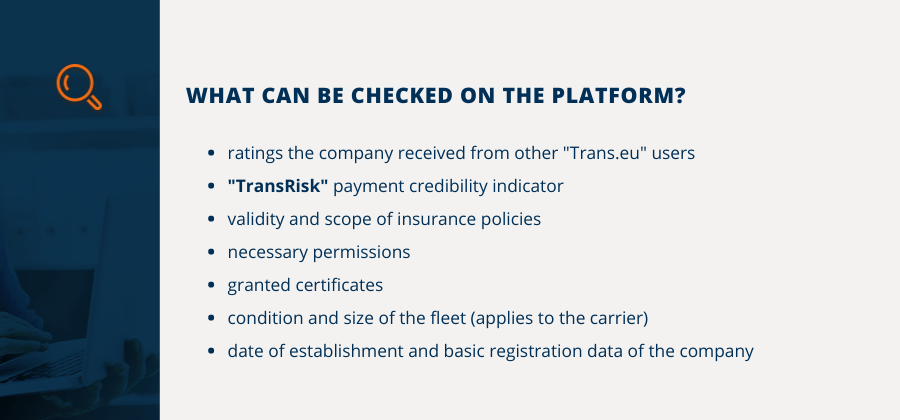 What can be checked on the Platform?