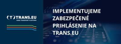 Něco, co víte a něco, co máte - implementujeme zabezpečené přihlášení na Platformě Trans.eu
