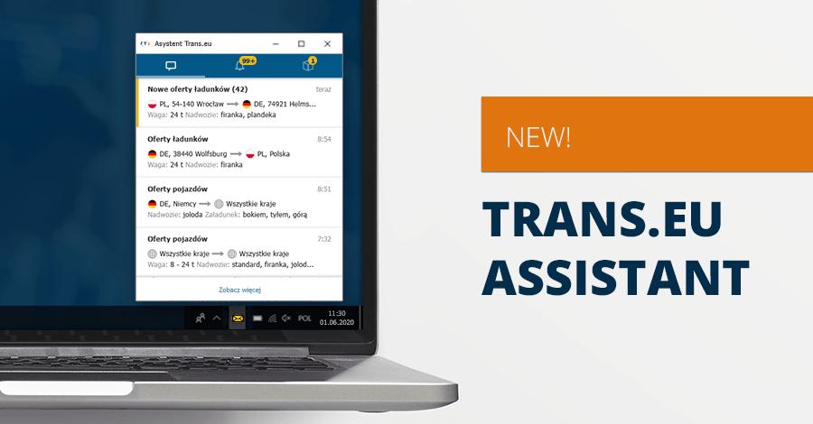 Améliorez votre travail sur la plateforme grâce à l'Assistant Trans.eu