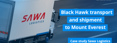 Transport of Black Hawk and shipment to Mount Everest. Sawa Logistics explains the importance of speed of delivery.