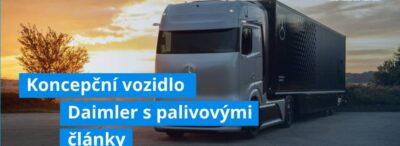 Koncepční vozidlo Daimler s palivovými články útočí na přepravu s nulovými emisemi