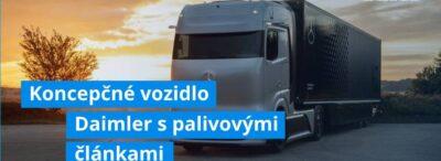 Koncepčné vozidlo Daimler s palivovými článkami útočí na prepravu s nulovými emisiami