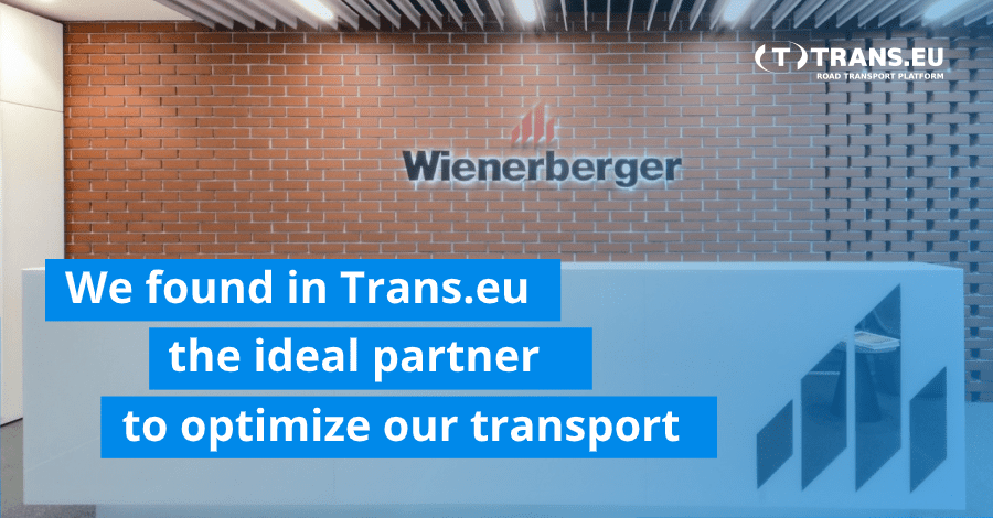 """Wienerberger Romania: """"We found in Trans.eu the ideal partner with which to optimize our transport processes"""""""