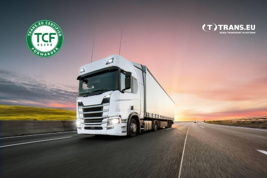 TCF Elite - kokybės sertifikatas geriausioms ekpedicinėms įmonėms Trans.eu Platformoje