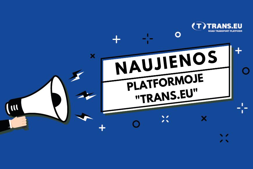 Naujienos Platformoje Trans.eu
